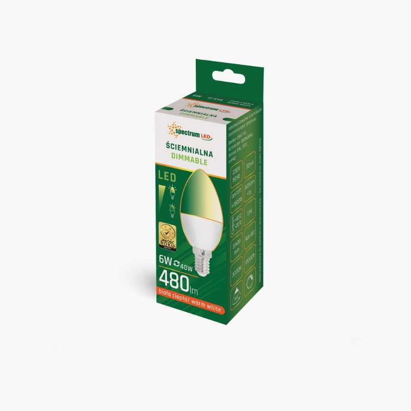 LED CANDLE 6W DIMMABLE