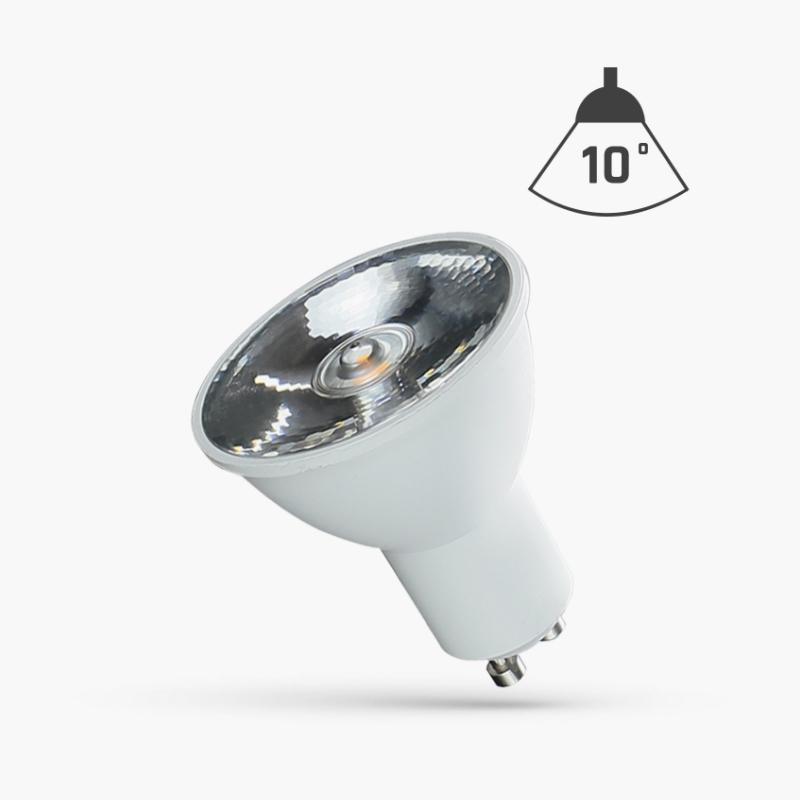 LED GU10 6W 10° WITH LENS WW