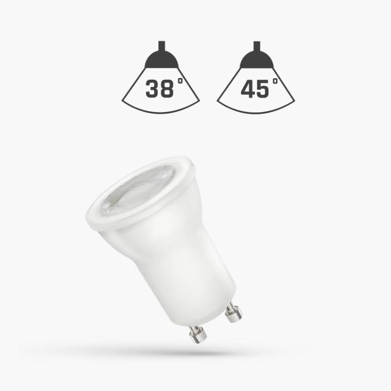 LED MR11 GU10 4W 45° WITH LENS WW