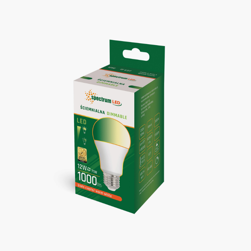LED GLS 12W E-27 DIMMABLE