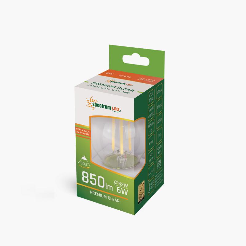 LED BALL 6W E14 COG FILAMENT
