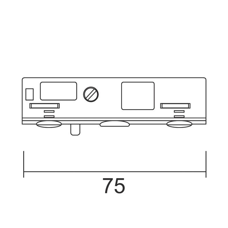 Adaptador 12V-5A calha
